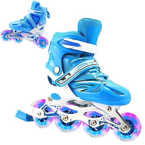 Inliner für Kinder und Erwachsene Inline Skates 2in1 Rollschuhe Schlittschuhe Verstellbar