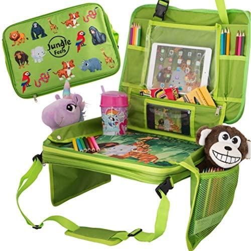 Car Seat Table for Toddler Travel Kids Travel Tray Travel Accessories Organizer for Kids Car product image