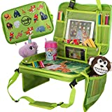 Car Seat Table for Toddler Travel & Kids Travel Tray &, Travel Accessories & Organizer for Kids, Car...
