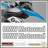 2pcs Motorrad for F650 F700 F800 R1150 R1200 GS LC ADESIVI PEGATINA STICKERS AUTOCOLLANT AUFKLEBER VINIL Motorcycle (White)