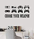 Vinyl Wall Decal Gaming Quote Joysticks Video Game Stickers (vs4500)