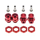 4-Pack 12mm to 17mm Wheel Hex Hub Adapter Extension Conversion for 1/10 RC Car and Upgrade 1/8 Tires