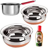 Sonigram Serving & Cookware 3 Pcs. Set - Induction Sauce pan 1500ml. Wire