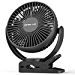 OPOLAR 5000mAh Portable Clip & Desk Fan with Timer, Rechargeable Battery or USB Powered, 3 Speeds, 7 Blade, Strong Clamp, Quiet for Baby Stroller, Treadmill, Golf Cart, Camping Tent, Office Desk,B (Renewed)