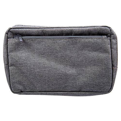 CTG Premium Quality Classic Premium Travel Organizer for Toiletries and Makeup, 9 x 5.5 inches, Grey