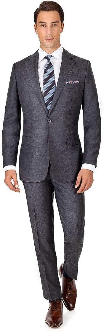 Suit in Dark Max 87% OFF Grey Pick Wool Size x 34L Sale 33W -