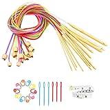 PERFETSELL Kit Ganchillo Tunecino con Cable 29Pcs, 12 Crochet Tunecino Agujas...
