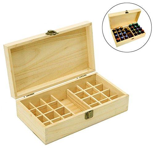 Ätherisches Öl Holz Speicher Geschenk-Box für 24Flaschen mit der Kapazität von 5ml, 10ml, 15ml