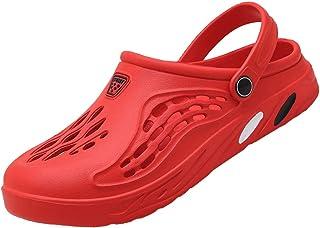 Unitysow Garden Clogs Men's Summer Breathable Lightweight Slip On Bedroom Slippers Indoor Outdoor House Shoes Sandals Nurs...
