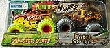 MJ Official Zombie Invasion Die-Cast Monster Trucks, 1:64 Scale, 2 Pack (Monster Mutt & Earth Shaker)