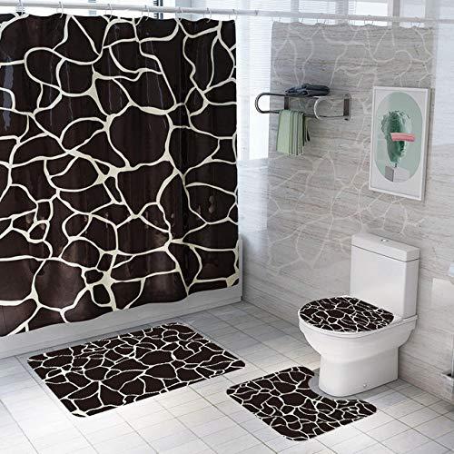 cortinas de baño con alfombra