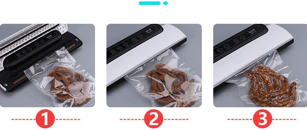 Passez l'aspirateur automatique Scellant-Cuisine alimentaire Scelleuse Poids léger Food Saver Secs et Moist aliments frais Conservation, Comprend 10PCS sac à vide Blanc