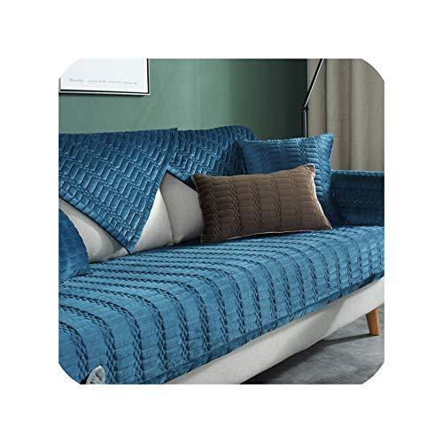 Grün Plaid Bequeme Sofabezug Geprägte Einfache rutschfeste Kissen Einfarbig Ganzjahres Universal Sofabezug C 110x180cm 1St