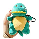 SGVAHY Fluffy Case Compatible with Airpods 1&2, Cute Dinosaur Soft Fur Furry Kawaii Fun Cool Mini Airpods Cover Case with Keychain Wireless Charging BoxAirpods 1 & 2 (Dinosaur Green)