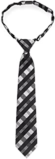 Tartan Plaid Patterns Woven Microfiber Pre-tied Boy's Tie - Various Colors