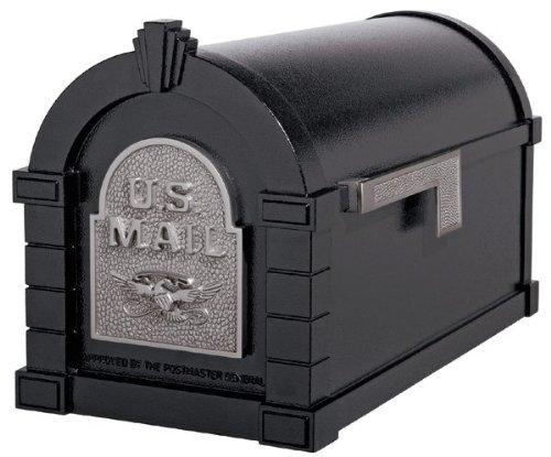 Gaines KS-25A - Eagle Keystone Series Mailboxes - Black/Satin Nickel