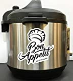 Bon Appetit Made With Love - Full Color Vinyl Decal Sticker for Instant Pot Instapot Pressure Cooker