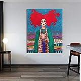 Papel tapiz artístico Pintura en lienzo Impresión Sala de estar Decoración del hogar Obra de arte Cuadros Arte moderno de la pared Pintura al óleo Sin marco Pintura decorativa Z31 50x70cm
