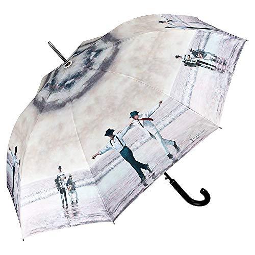 VON LILIENFELD Regenschirm Auf-Automatik Kunst Stockschirm Damen Herren Theo Michael: Sirtaki