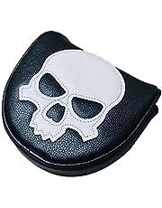 SunniMix PU Impermeable Golf Blade Putter Cabeza Cubierta Esqueleto Club Cabeza Protector Impermeable Suave PU Cuero Putter Cubierta Cabeza Protector