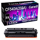Cuxwill CF540A 203A LaserJet Cartucho de tóner (negro), utilizado para HP LaserJet Pro M254 DW NW DN M254dw M254nw M254dn, HP Color LaserJet Pro MFP M281 FDW FDN MFP M281fdw M281fdn, MFP M280nw