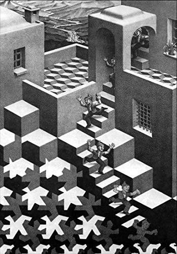 Escher Poster 02 cm 50x70 Poster Affiche Plakat Fine Art Il Negozio di Alex