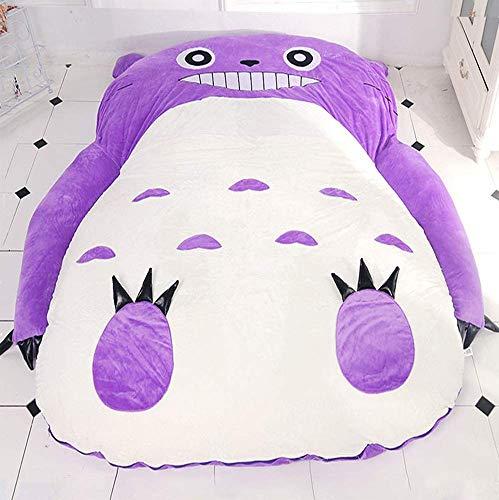 VIVICL Mein Nachbar Totoro Tatami Matratze Schlaf Doppelbett Sitzsack Sofa Für Kinder Warme Cartoon Tatami Schlafsack Matratze, Lila,220 * 170cm