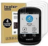 ivoler 4 Unidades Protector de Pantalla para Garmin Edge 530 / Garmin Edge 830, Cristal Vidrio Templado Premium para Garmin Edge 530 / Garmin Edge 830