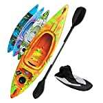 Riber One Person Sit In Kayak Deluxe Starter Pack - Ideal for Beginners - Multiple Colours (Orange, Yellow & Green)