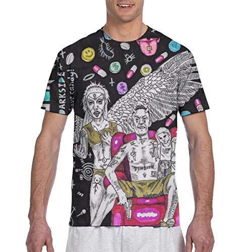 Yang Die Antwoord - Camiseta de manga corta para hombre, negro, Medium