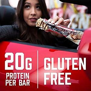 BSN Protein Crisp Bar by Syntha-6, Low Sugar Whey Protein Bar, Salted Toffee Pretzel, 12 Count