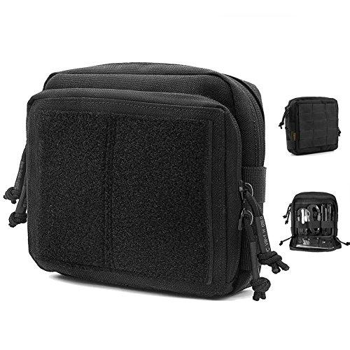 Reebow Gear Taktische Admin-Tasche, EDC Molle, Militär-Tasche, Organizer, schwarz