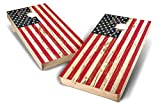 Backyard Champs 2' x 4' Tournament Approved Wood Cornhole Set, 8 Bean Bags Included - Stars and Stripes Design – perfect for Backyard, Beach, Park, Tailgates, Outdoors and Indoors