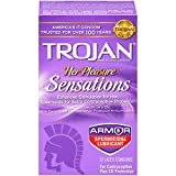 Trojan Her Pleasure Sensations Spermicidal Condoms, 12 Count