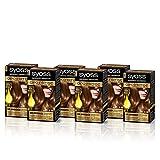 SYOSS, Coloración permanente - 6 unidades - Sin Amoníaco Tono 6.80 Rubio Caramelo