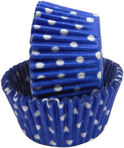 Regency Wraps Greaseproof Baking Cups, Cobalt Blue Polka Dots, 40-Count, Standard.
