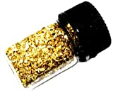1.000 Grams Alaskan Yukon BC Natural Pure Gold Nuggets with 2ml glass bottle (#B300)