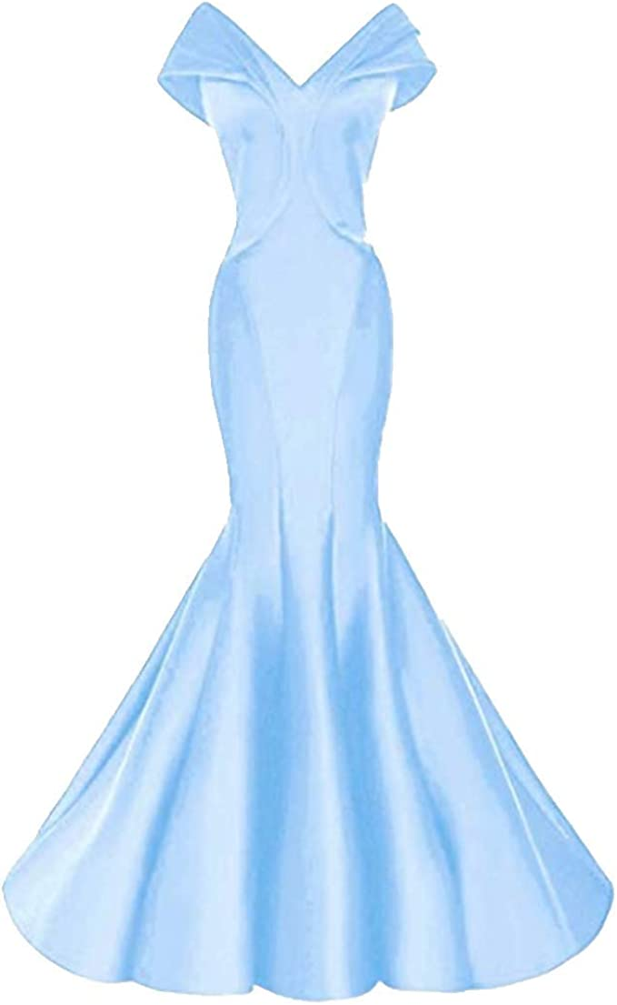 ANGELA Women's Off Shoulder Mermaid Formal Evening Dresses Long Wedding Party Dresses