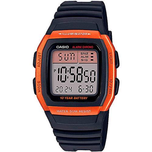 Casio Reloj Digital para Hombre de Cuarzo con Correa en Resina W-96H-4A2VEF