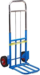 Camping and Festival Trolley Blue Folding Travel Truck Luggage Suitcase Warehouse Cart (Color : Blue)