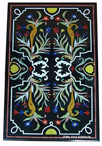 Gifts And Artefact Marmor-Esstisch für die Terrasse, Sofa-Tisch, Intarsien, kann im Garten verwendet werden, hergestellt in Indien, 91,4 x 152,4 cm