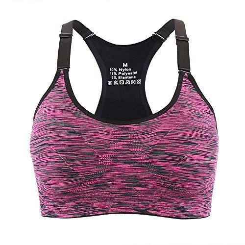 Aibrou Reggiseno Sportivo da Donna, Reggiseno Sportivo da Ginnastica Imbottito da Corsa da Jogging
