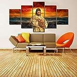 183Tdfc 5 Teilig Leinwand Wanddeko Jesus Christus