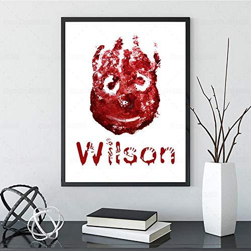 EDGIFT2 Cast Away Poster Wilson Der Volleyball Lustige Leinwand Malerei Lieblingsfilm Inspirierende Wandkunst Home Decoration 50X70cm ohne Rahmen