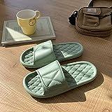 WUHUI Zapatillas de Invitados, Niña Sandalias Verano Zapatillas, Zapatillas de Masaje Impermeables cómodas Planas para Mujer, Green_35