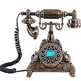 VERDELZ TeléFono Retro/TeléFono Antiguo Europeo, Cuerpo De Resina + Metal, BotóN De FuncióN, TeléFono Y Oficina, DecoracióN De Sala De Estar