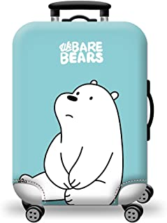 TDC Men's Elastic Luggage Cover Suitcase M white bear