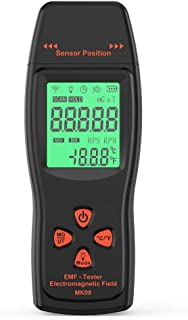 KKmoon EMF Meter Handheld Mini Digital LCD EMF Detector Electromagnetic Field Radiation Tester Dosimeter Tester Counter