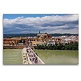 Premium Textil-Leinwand 120 x 80 cm Quer-Format Blick auf