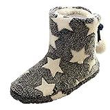 Slippers for Women Memory Foam,Women Warm Bootie Slippers Slip On Fluffy Plush Anti-Skild Indoor Outdoor Winter Booty Slippers